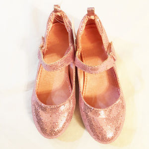 H&M girls dress shoes size 11.5M pink glitz heels